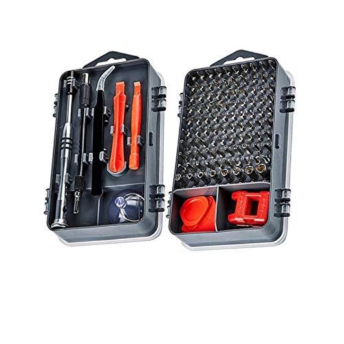 JUNCH Juego de destornilladores de precisión magnéticos, juego de puntas de destornillador multifunción para reparación de teléfonos móviles (112-negro)