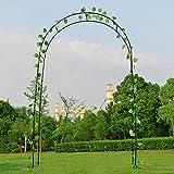 Arco de Jardín, Arco para Rosales de 240 x 140 x 22 cm, Marco de Metal, Arco de pabellón pérgola para Plantas trepadoras, Resistente a la Intemperie, Negro