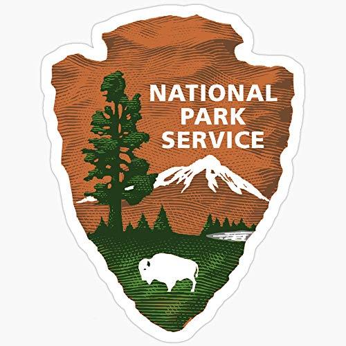 WillettaStore Lot de 3 autocollants de service National Park