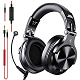 OneOdio Headphones with Mic, Computer Headset with Volume Control and Share-Port, Over Ear Wired Headphones with Mic for PC Skype Zoom Business Meeting Call Center Phone Laptop Gaming PS4 Xbox One