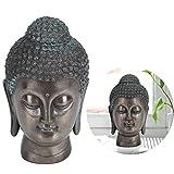Liyeehao Meditierender Buddha-Kopf Buddha-Kopfstatue-Tisch-Zen-Harzfigur für Innenministerium