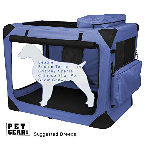 Pet Gear Generation II Deluxe Portable Soft Crate for cats and dogs up to...