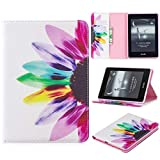 Amazon Kindle Paperwhite Case (10th Generation, 2018 Release), iYCK PU Leather Stand Flip Folio [Card Holder] Protective Wallet Case Cover for Amazon Kindle Paperwhite 4 2018 - Colorful Flower