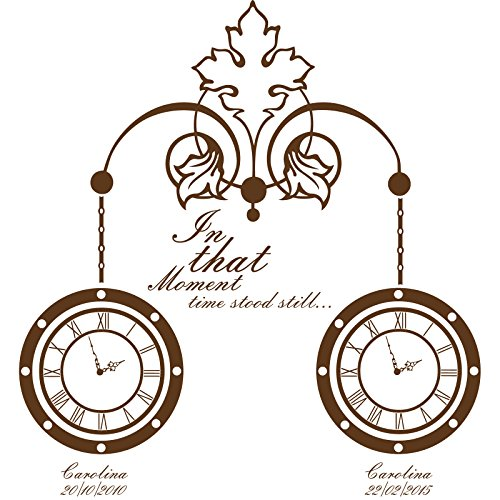 GcClock_19 In that moment time stood still Size 60 cm x 64 cm Choose colour 18 colours in stock clock Decoration, Windows and Wall Sticker, Wall Windows Art, Children Room Stickers, Decals, ThatVinylPlace by ThatVinylPlace