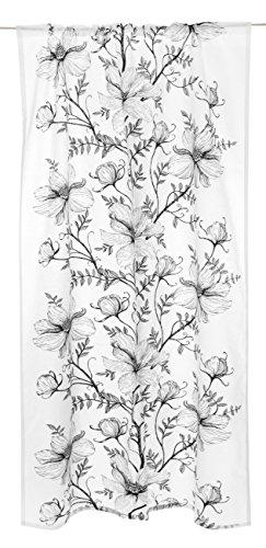 Vallila Opera Classic Vorhang, 140x240 cm, Schwartz/Weiss, floral, Baumwoll-Mischgewebe, Black, 140 x 240 x 0.1 cm