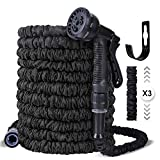 Ohuhu Expanding Garden Hose Pipe, 30m/100ft Expandable Magic Hose Water Hose with 8