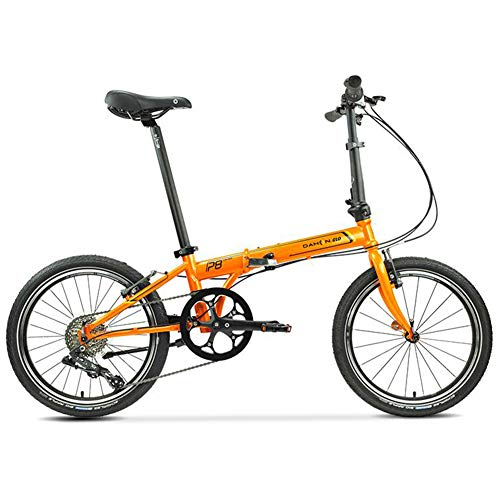 TX 20 Pulgadas Velocidad Variable Bicicleta Plegable Ligero Rueda De Radios Bicicleta para Adultos Viajes Urbanos para Hombres Mujeres Al Aire Libre,Amarillo