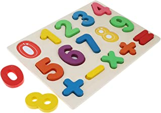 HOMYL Fun Wooden Mathematics Board - 0 ~ 9 Numbers Arithmetical Math Educational Teaching Aids Baby Montessori Toy Counting Learning Xmas Gift