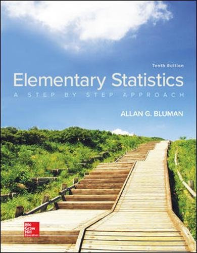 Compare Textbook Prices for Elementary Statistics: A Step By Step Approach 10 Edition ISBN 9781259755330 by Bluman, Allan