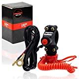 1PZ BR2-L02 Dirt Bike Handlebar Mount Safety Tether Engine Kill Stop Switch Push Button 12V 2 Wires for Yamaha Honda Tohatsu Boat Outboard Motorcycle ATV Dirt Bike