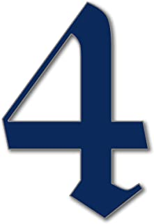 JustHouseSigns House Number 4 Old English Door Numbers in 3 Sizes (15, 20, 25cm / 5.9, 7.8, 9.8in) Modern Floating House N...