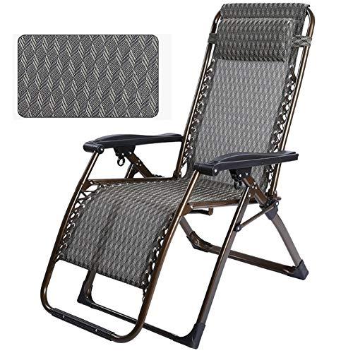 Métal Chaise longue, pliante Cabine de bronzage, 178 × 78 × 44 cm, 200 kg max.Charge statique, résistant à la rouille, avec synthétique respirante Tissu for la plage Piscine extérieure Patio Jardin Ca