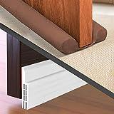 RFAQK 2 Pack Door Draft Stopper and Bottom Door Strip to Guard 4 Interior/Exterior Doors – Perfect Weather-Stripping Door Sweep- to Stop Under Door Noise, Light, Water
