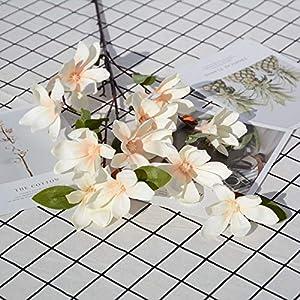 Artificial and Dried Flower Artificial Magnolia Flower Living Room Home Decoration Simulation Magnolia Bouquet Wedding Road Lead Decor Fake Silk Flower