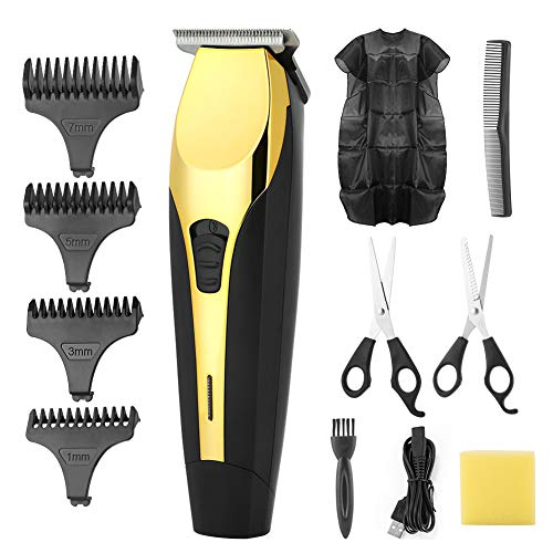 DazSpirit Cordless Hair Clipper Set for Men, USB Rechargeable Professional Hair Trimmer, Include Guide Combs & Other Haircut Accessories