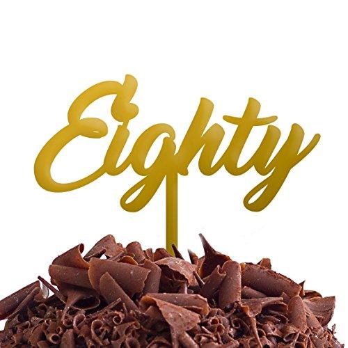 Directly Personalised Gâteau Quatre Vingt 80 Fête d'anniversaire .b. Rapide et Gratuit Royaume-Uni Livraison