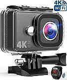 TEC.BEAN Action Cam 14MP Wi-Fi 4K Ultra HD Fotocamera, Impermeabile 45M Immersione Sott'Acqua Camera...