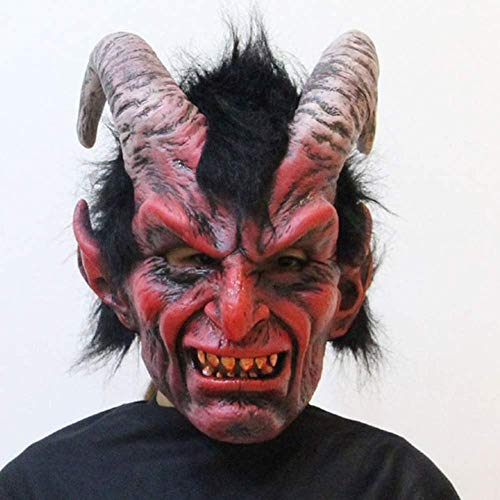 masks Halloween Latex, Horror Red Horned Devil Karneval Party Cosplay Kostüm Erwachsene