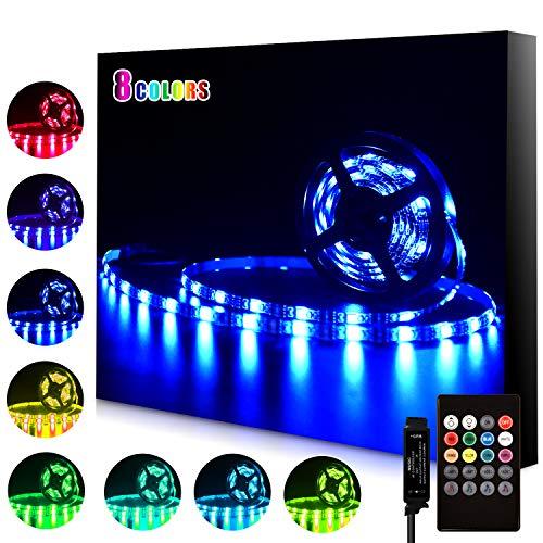 strisce led, retroilluminazione TV USB da 3,5 m per TV da 40-65 pollici, 8 colori e 4 modalità dinamica con modalità di illuminazione musicale, fai-da-te, cucina, camera da letto, festa, casa.