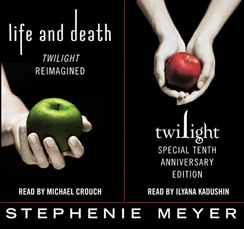 Twilight Tenth Anniversary/Life and Death Dual Edition                   By:                                                                                                                                 Stephenie Meyer                               Narrated by:                                                                                                                                 Michael Crouch,                                                                                        Ilyana Kadushin                      Length: 28 hrs and 56 mins     1,545 ratings     Overall 4.2