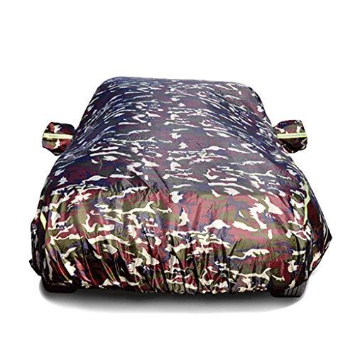 Couverture de voiture étanche Couverture de voiture avec bandes fluorescentes Protection UV Tous temps Neige Poussière Pluie Coupe-vent Extérieur Protecteur Vêtements de voiture Fit Vêtement TOYOTA-PR