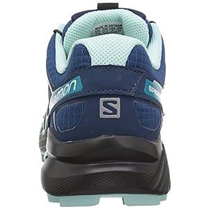 Salomon Women's Speedcross 4 Trail Running Shoes, Poseidon/Eggshell Blue/Black, 7.5