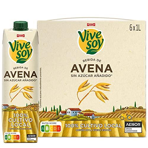 Vivesoy - Bebida de Avena Sin Azúcar Añadido - Pack de 6 x 1 L