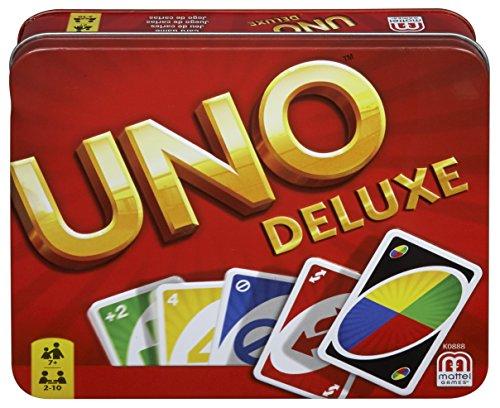 Mattel Games K0888 UNO Deluxe Kartenspiel, geeignet für 2 - 10 Spieler, Spieldauer ca. 15 Minuten, ab 7 Jahren
