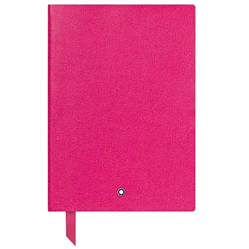 Montblanc Notebook 116520 Fine Stationery #146 – Liniertes Notizbuch aus Leder mit Softcover in DIN A5 – Farbe: Pink – 192 Seiten