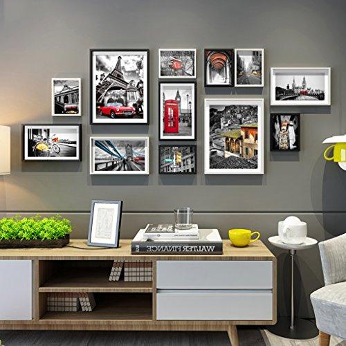 Cadre décoratif 12 pcs/ensembles Collage Photo Frame Set, cadres photo Vintage, mur de cadre photo famille, cadre photo de mariage bricolage cadre photo ensembles pour mur (Couleur : #-2)