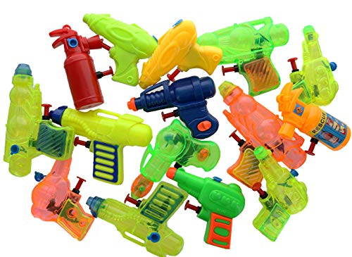 GIFTEXPRESS Mini Fun Squirt Water Guns Blasters for Pool Beach Toys Kids Birthday Party Favors Goody Bag – Bulk Assorted Styles Fun for Summer Kids Water Activity – Pack of 12