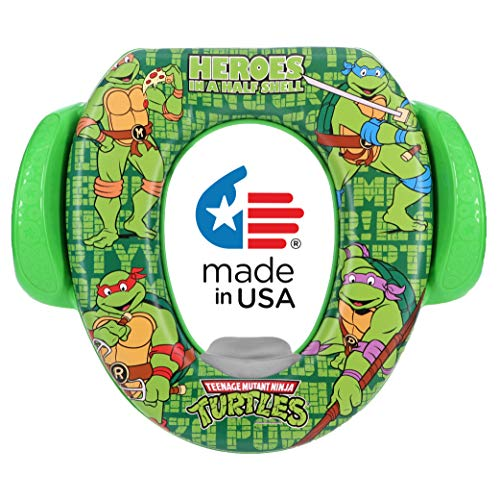 """Nickelodeon Soft Potty Seat, TMNT""""Heroes in A Half Shell"""", Green"""