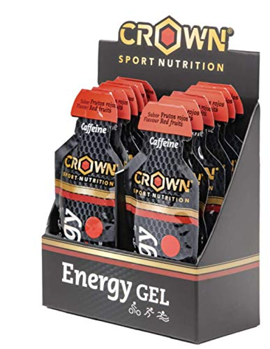 Crown Sport Nutrition Gel Energético - con o sin Cafeína - 12 unidades Carbohidratos en ratio...