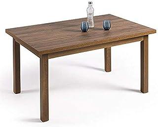 comprar comparacion HOGAR24- Mesa Multiusos Comedor Cocina Dimensiones 120 cm x 80 cm Extensible a 190 cm x 80 cm Color Madera Envejecida Nogal
