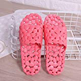 LJJYF Pantuflas de casa para Mujer,Verano Hombres y Mujeres Pareja Zapatillas de baño Inicio Baño Antideslizante Agujero de plástico Fugas Zapatilla-Watermelon_Red_EU38