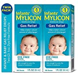 Infants' Mylicon Gas Relief Drops for Infants and Babies, Dye Free Formula, 1 Fluid Ounce, Twin Pack