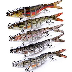 VTAVTA Bass Fishing Lures Freshwater Fish Lures 5.51inch Swimbaits Slow Sinking Gears Lifelike Lure Glide Bait Tackle Kits