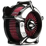 Turbine Black Edge Cut For Harley Air Cleaner street glide air filter For Harley road king air Intake system For Harley road glide 2008-2016