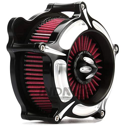 Turbine Black Edge Cut For Harley Air Cleaner street glide air filter...