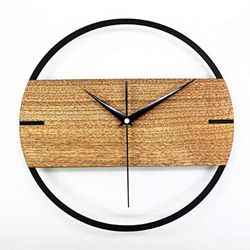 DYJD Wohnzimmer Wanduhr, antike Wanduhr, hölzerne Uhr, lautloses Quarzwerk, Wohnzimmer Schlafzimmer Küche Büro Art-Deco-Uhr, 30CM