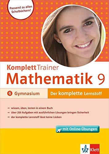 Klett Komplett Trainer Mathematik, Gymnasium Klasse 9: Buch mit Online-Übungen