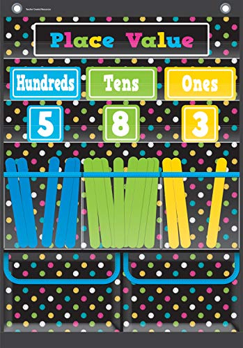 Teacher Created Resources Chalkboard Brights Place Value Pocket Chart (TCR20804)