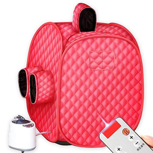 HYQW Infrarood sauna draagbare thuis premium stoomsauna persoonlijk Spa droge sauna infrarood stoombox - Red
