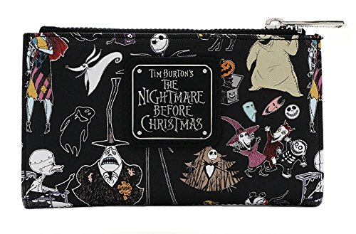 Loungefly Disney Nightmare Before Christmas Character Print Bi-Fold Wallet