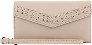Rebecca Minkoff Wristlet, Whipstitch Tech Wristlet [Credit Card Case] Wallet Case fits Apple iPhone 7 - Nude Leather