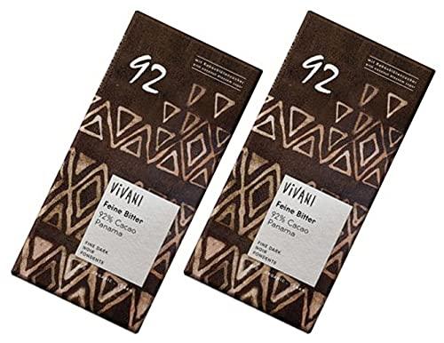 無添加 ViVANI オーガニック エキストラダークチョコレート 92% ×2個★クール便(5月〜11月)★砂糖不使用、有機ココナッツシュガーを使用したすっきりとした甘さです。濃厚なカカオの味わいをお楽しみください。