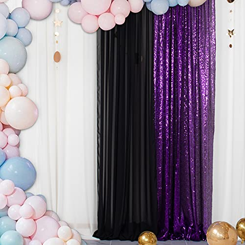 Paneles de Cortinas de Lentejuelas Royal Purple 2FTx8FT Fondos Brillantes para fotografía...