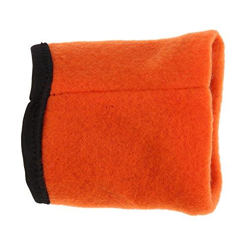 Cartera de la muñeca de los deportes, bolsillo de la bolsa de la banda de la muñeca del gimnasio del ejercicio de la pulsera de la cremallera para correr, caminar, tenis, caminatas(naranja)