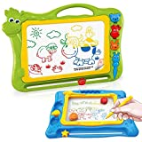 Magnetic Drawing Boards for Kids Erasable Colorful Kids Sketch Board for Writing Painting Sketching Large Size 17 Inch with a...