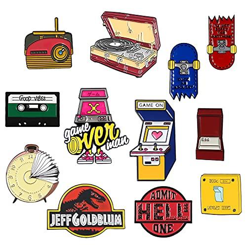7 Packs Cute Enamel Pins Brooch for Collor Handbag Cap Knapsack Jeans Accessories Collection (12...